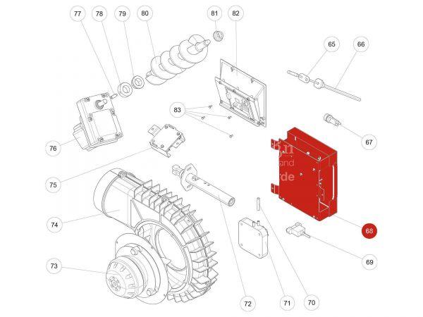 Rika Kapo Hauptplatine USB11   B16561   Splitzeichnung Nr. 68