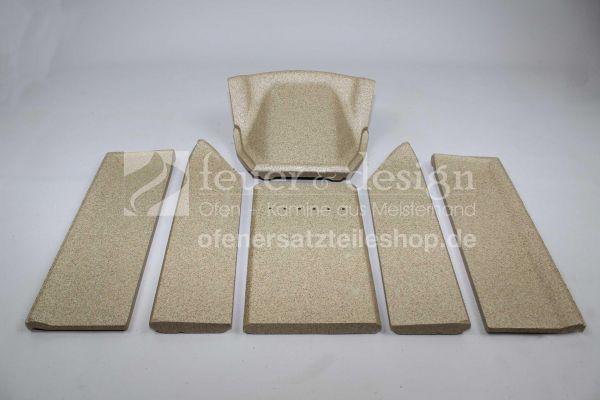 Contura Feuerraumauskleidung | Vermiculitesatz | für die Contura Modelle 790 und 790K