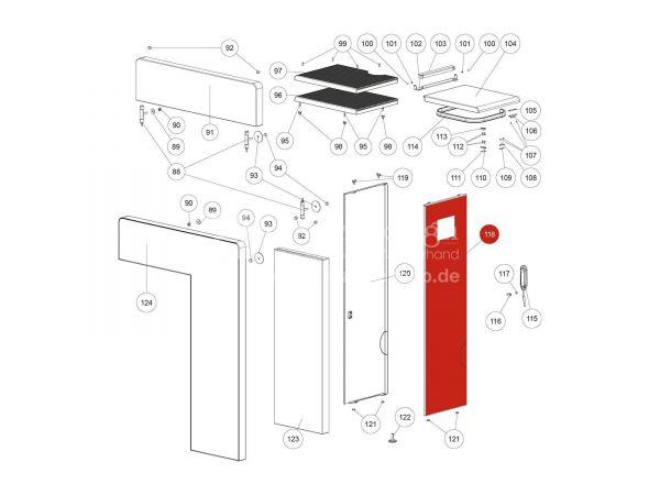 Seitenverkleidung rechts zu Rika Domo | L02718 | Splitzeichnung Nr. 118