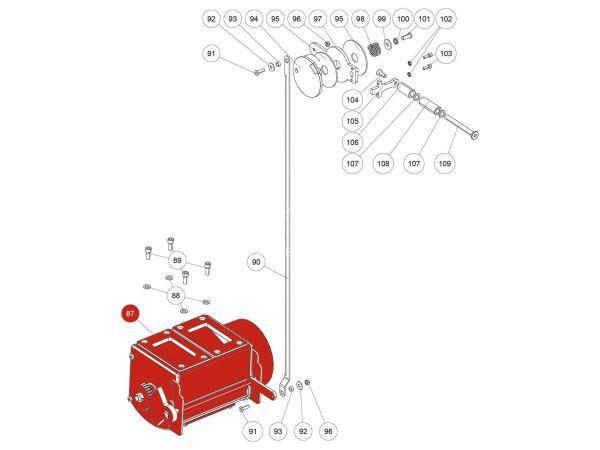 Luftregler Steuerung oben zu Rika Back   B16501   Splitzeichnung Nr. 87