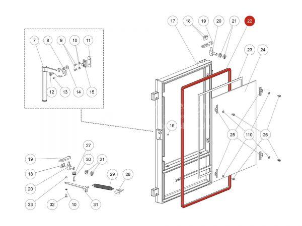 Rika Back Runddichtschnur schwarz D12 | N100485 | Splitzeichnung Nr. 22 | Meterware