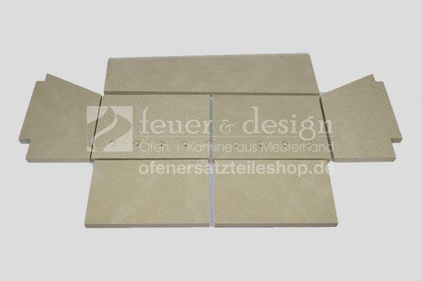 Skantherm Turn Vermiculitesatz | alle Varianten | Brennkammerauskleidung | 7 teilig