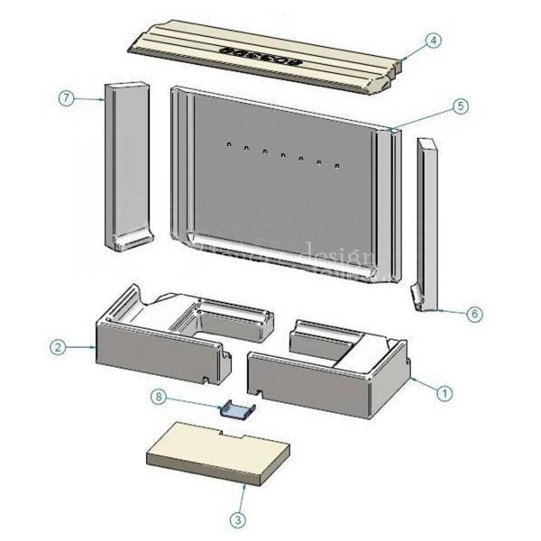 Contura i51T Feuerraumauskleidung | Vermiculitesatz