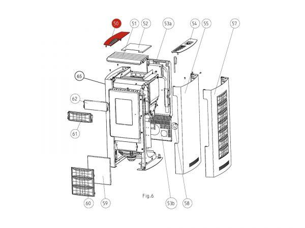 Deckel links bis Seriennr. 203251 zu Rika Memo | B15250 | Splitzeichnung Nr. 50