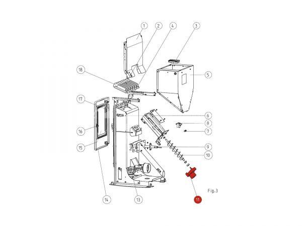 Schneckenmotor ab Seriennr. 177782 bis 1328865 zu Rika Memo | B15773 | Splitzeichnung Nr. 11