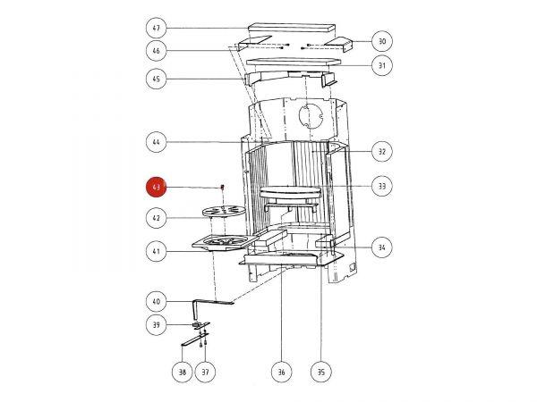 Rika Atrio ISK-Schraube | N100061 | Splitzeichnung Nr. 43