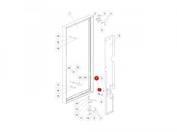 Elektrohaftmagnet zu Rika Domo   Z37820   Splitzeichnung Nr. 7