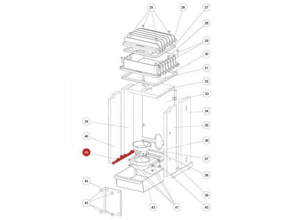 Rika Kapo Schamotthaltewinkel links | Z35293 | Splitzeichnung Nr. 45