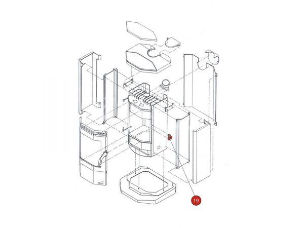 Türverschluss komplett zu Rika Amigo | B12375 | Splitzeichnung Nr. 19