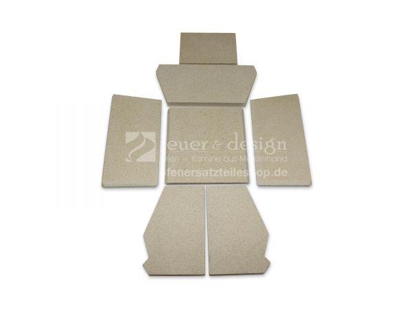 Skantherm Milano Vermiculitesatz   alle Varianten   7 teilig   Brennkammerauskleidung