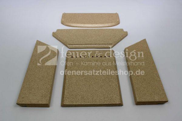 Contura Feuerraumauskleidung | Vermiculitesatz | für die Contura Modelle 850, 860T und 880
