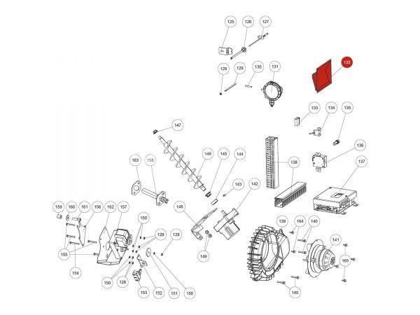 Touchdisplay steckbar zu Rika Domo | B16574 | Splitzeichnung Nr. 132