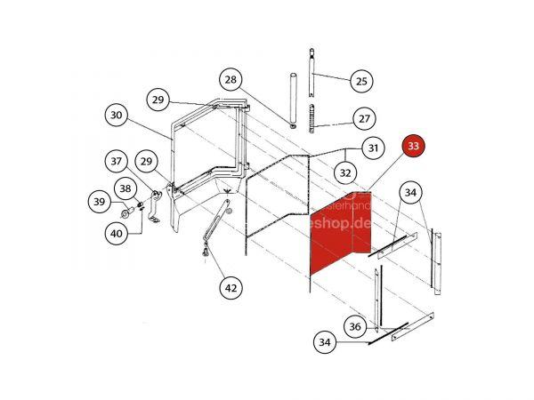 Türglas zu Rika Amato | Z21839 | Splitzeichnung Nr. 33
