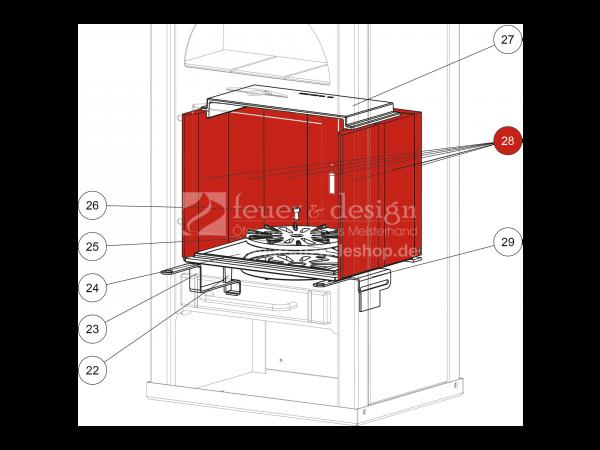 Schamottestein zu Rika Alpha II | Z22403 | Splitzeichnung Nr. 28