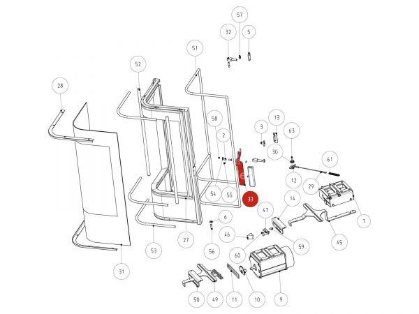 Rika Jazz Feuerraumtürriegel   Z33894   Splitzeichnung Nr. 33
