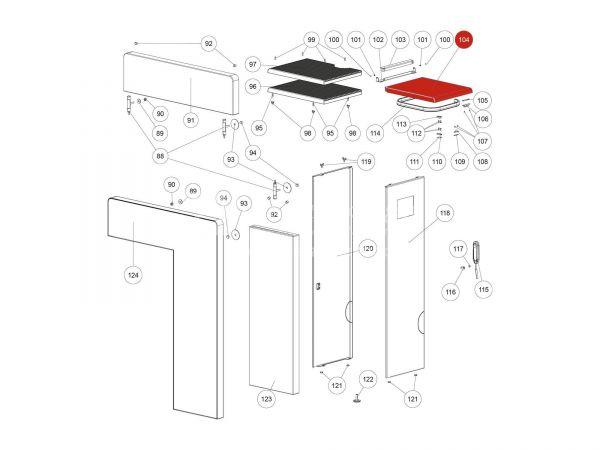 Behälterdeckel schwarz zu Rika Domo | Z35975 | Splitzeichnung Nr. 104