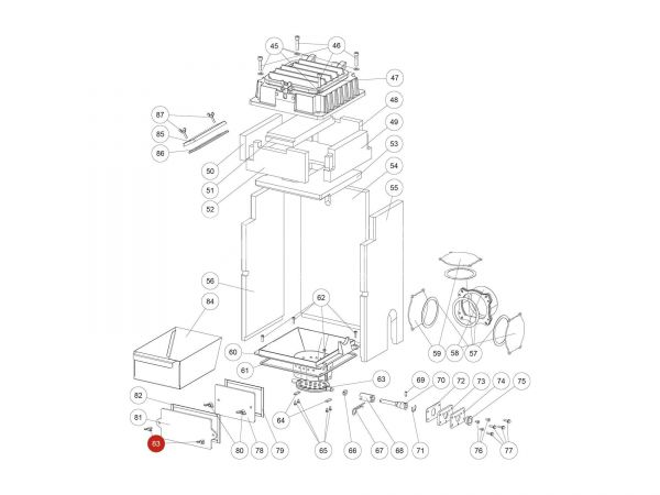 Flügelschraube zu Rika Domo | N112391 | Splitzeichnung Nr. 83
