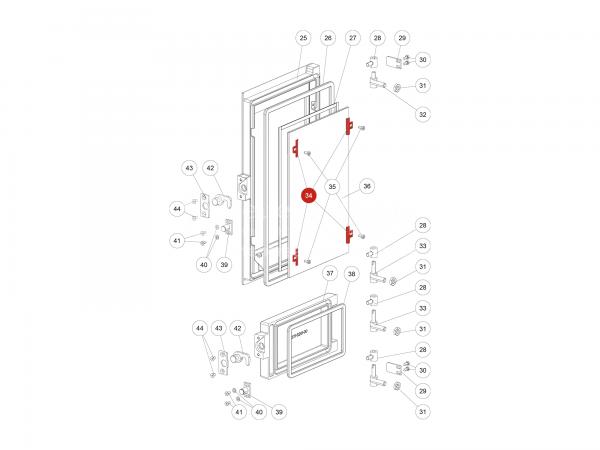 Glashalter zu Rika Domo | L00475 | Splitzeichnung Nr. 34