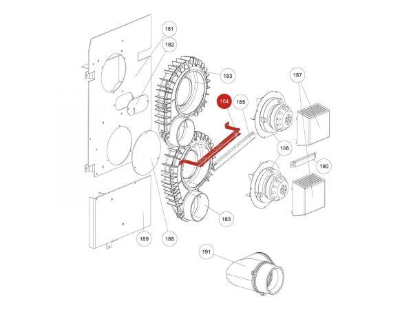 Kabelführung zu Rika Domo | L02722 | Splitzeichnung Nr. 184