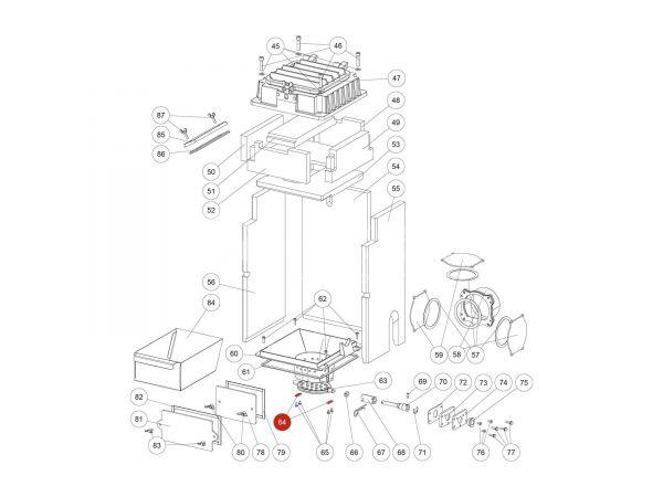 Plättchen zu Rika Domo   L02726   Splitzeichnung Nr. 64