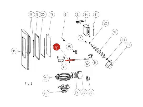 Halterohr für Zündpatrone ab Seriennr. 177782 zu Rika Memo | B15781 | Splitzeichnung Nr. 12