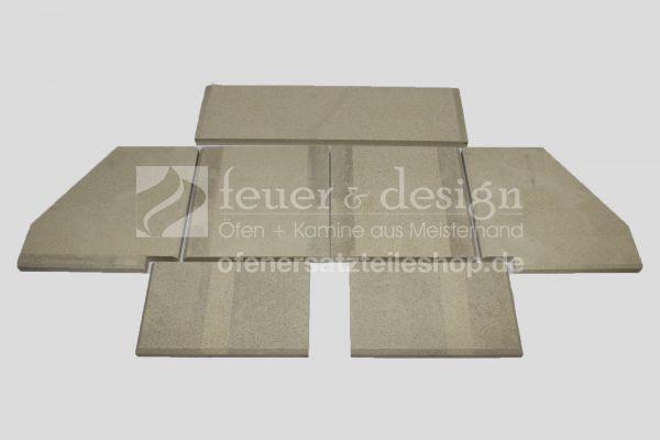 Skantherm Balance Vermiculitesatz | ab Baujahr 2012 | 7 teilig | Brennkammerauskleidung