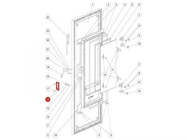 Rika Kapo Verschlusslasche   L02216   Splitzeichnung Nr. 16