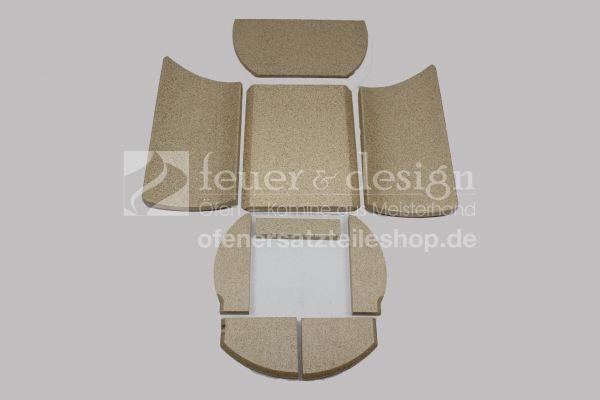 Skantherm Beo 6 KW Vermiculitesatz | Brennkammerauskleidung | 9 teilig
