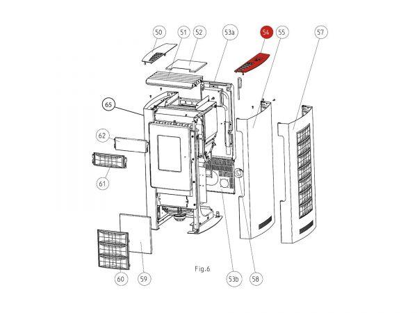Deckel rechts bis Seriennr. 203251 zu Rika Memo | B15251 | Splitzeichnung Nr. 54