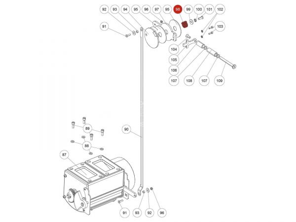Druckfeder zu Rika Back | N111831 | Splitzeichnung Nr. 98