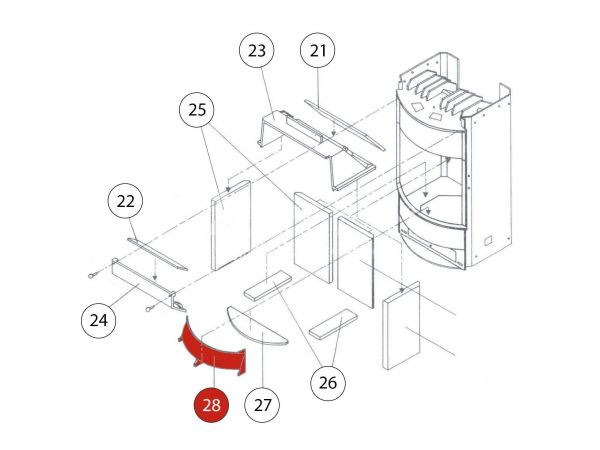 Holzfänger metallic zu Rika Amigo | Z31450 | Splitzeichnung Nr. 28