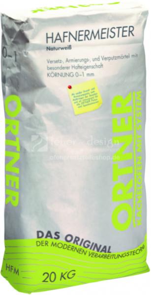 Ortner Hafnermörtel | Hafnermeister 20 kg Sack | Körnung 0-1mm