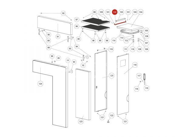 Scharnier Behälterdeckel zu Rika Domo | Z35865 | Splitzeichnung Nr. 102