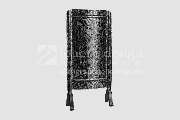 Ofenschirm einteilig 90 cm x 45 cm  (H/B)  | Alteisen gehämmert mit Füssen | Kamin Ofenschirm