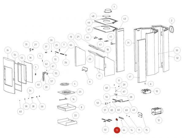 Rika Tema Zahnradwelle | B16187 | Splitzeichnung Nr. 13