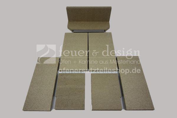 Attika Gabo Feuerraumauskleidung A ( alte Ausführung ) | Vermiculitesatz 9-teilig