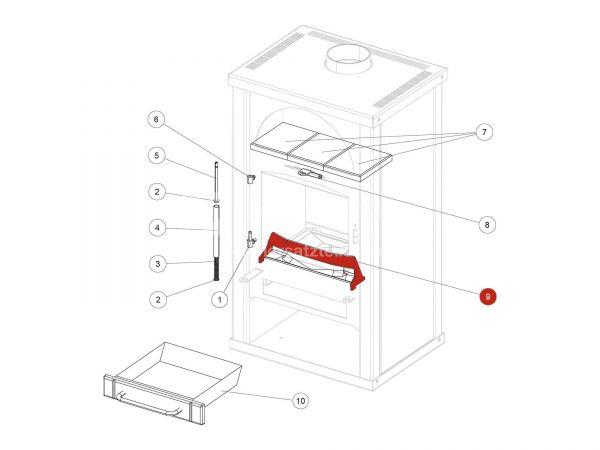 Holzfänger metallic zu Rika Alpha II | Z28522 | Splitzeichnung Nr. 9