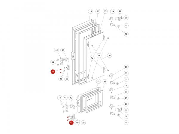 ISK-Schraube zu Rika Domo | N108485 | Splitzeichnung Nr. 41