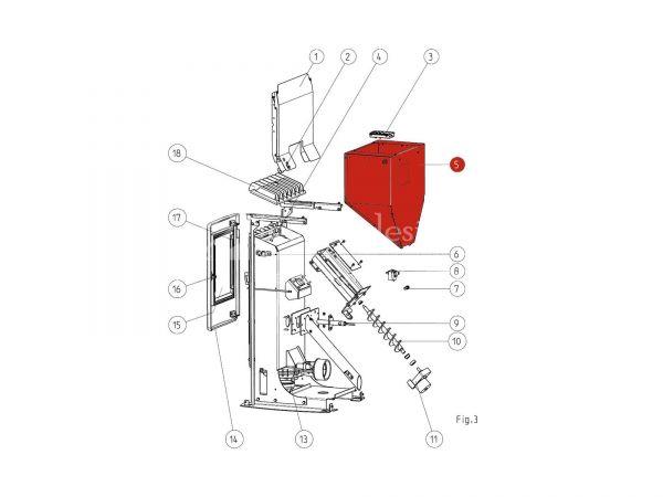 Behälter komplett zu Rika Memo | B15782 | Splitzeichnung Nr. 5