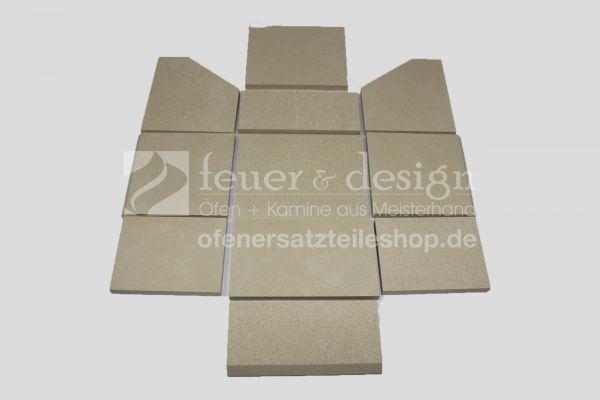 Skantherm Gate Vermiculitesatz | bis Baujahr 2010 | 11 teilig | Brennkammerauskleidung