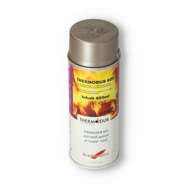 Hase Ofenspray   Ofenlack perlmutt 400 ml   Thermodur 600 STAN   für Ofenrohre