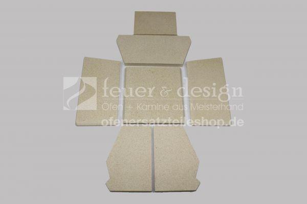Skantherm Milano Vermiculitesatz | alle Varianten | 7 teilig | Brennkammerauskleidung