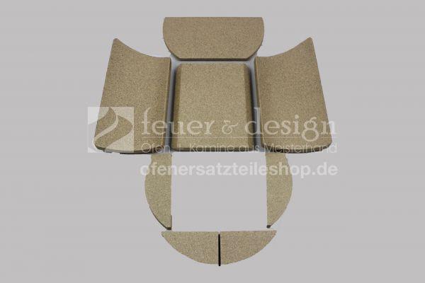 Skantherm Solo/Solo 2.0 Vermiculitesatz | 8 teilig | Brennkammerauskleidung