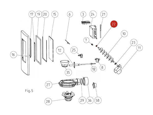 Gleitlager Di10 zu Rika Memo | Z35183 | Splitzeichnung Nr. 22
