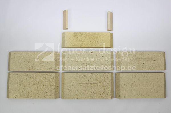 Ortrand Schamottesatz | Satz Schamottsteine zu E3020.1+E3020.3