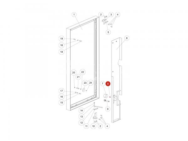 ISK-Schraube zu Rika Domo | N100489 | Splitzeichnung Nr. 8