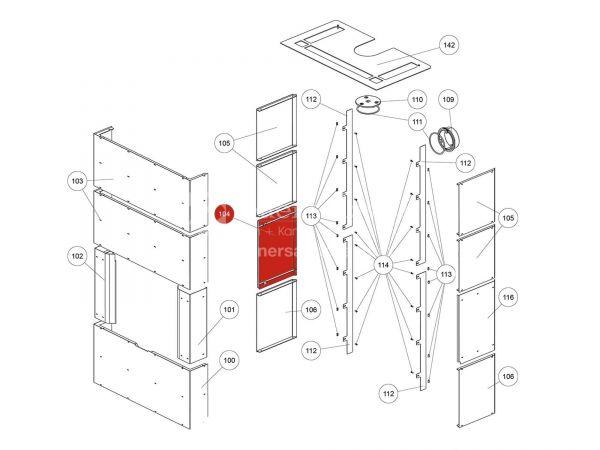 Rika Ambia Seitenverkleidung Stahl links | B18581 | Splitzeichnung Nr. 104 & 165