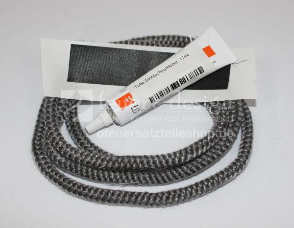Türdichtung (Dichtschnur 1,5 m x 12 mm) mit Kleber und Endband