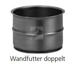 Doppelwandfutter | für Rauchrohre mit Durchmesser 150 mm | 120 mm lang