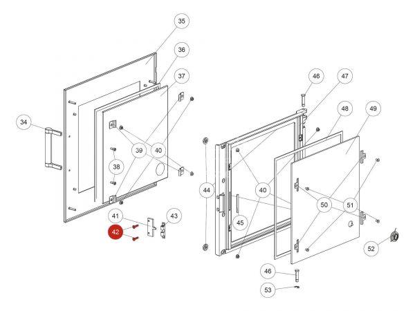 ISK-Senkschraube zu Rika Back | N110586 | Splitzeichnung Nr. 42